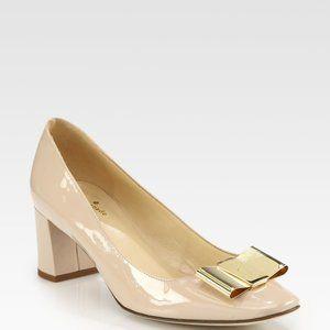 Kate Spade Nude Dijon Block Heels